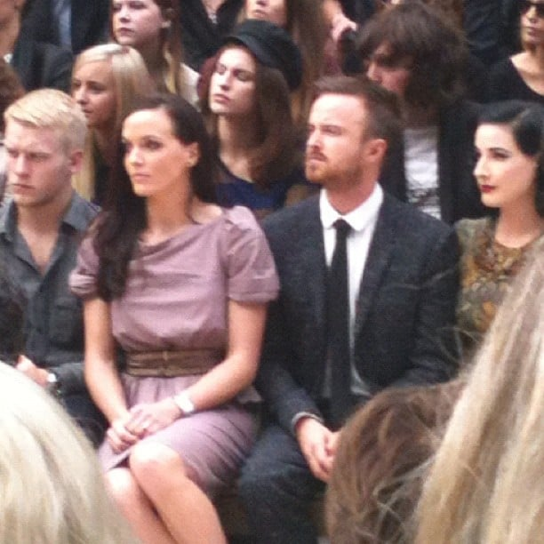 Aaron Paul was spotted among the stars in attendance at London Fashion Week.  Source: Instagram user elleusa