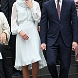 The Duke and Duchess of Cambridge walked the steps of the mosque together in Malaysia on day four of their 2012 tour.