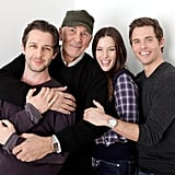 Jeremy Strong, Frank Langella, Liv Tyler, and James Marsden took an awesome photo for their new film Robot and Frank.