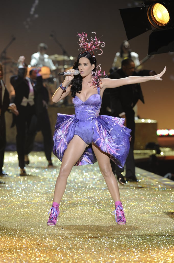 Katy performed onstage during the November 2010 Victoria's Secret Fashion Show in NYC.