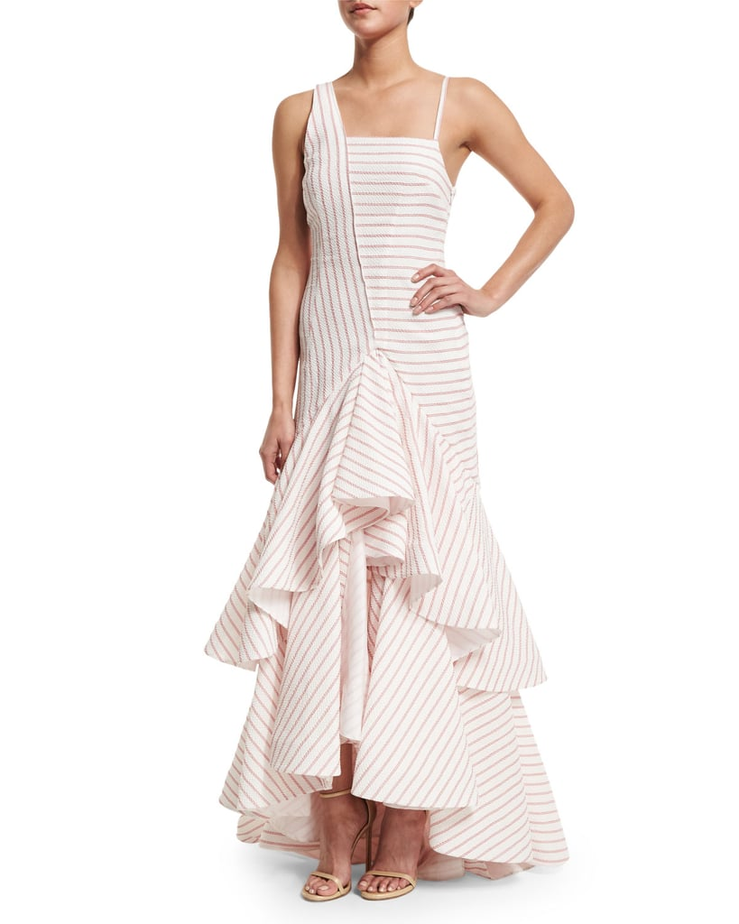 Rosie Assoulin Ticker-Tape Ruffled Linen Gown ($3,295)