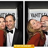 Leslie Mann and Judd Apatow posed in Vanity Fair's Oscars party photo booth.