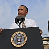 "President Obama talked about his disappointment over the ""Republican shutdown"" while in Maryland on Oct. 3."