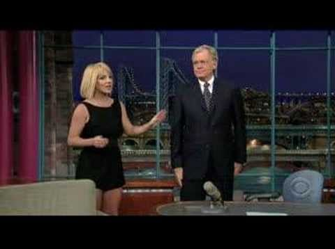 Britney Shows Off On Letterman