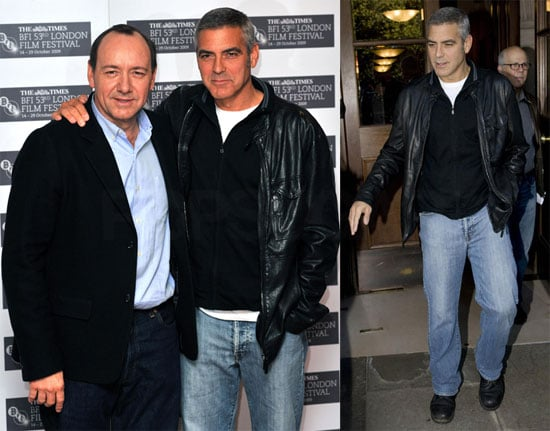 Photos of George Clooney and Kevin Spacey at the BFI London Film Festival