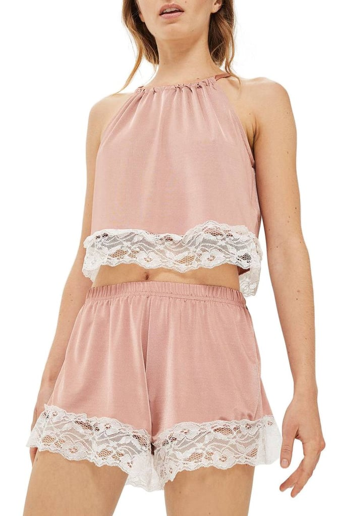Topshop Satin & Lace Pajamas