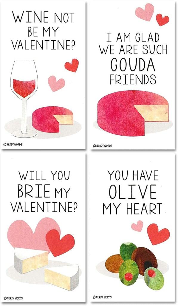 Mini Wine & Cheese Charcuterie Board Valentines