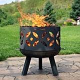 Retro Cast Iron Wood Burning Fire Pit Bowl