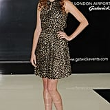 Leopard, a la model Lily Cole, is a sassy way to spend the holidays.