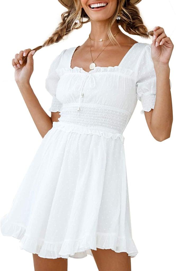Simplee Puff-Sleeve Dress