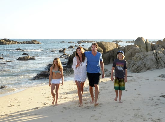 Pictures of Cindy Crawford and Rande Gerber on Beach With Kids Presley and Kaia