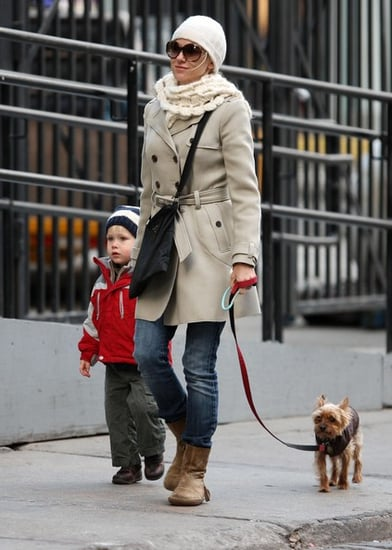 Naomi Watts and family out for a walk in New York