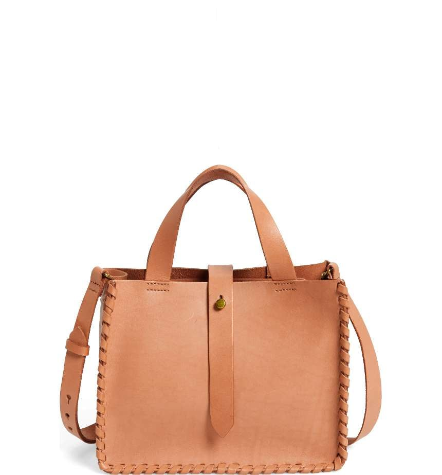b1239ed8a1e886 Madewell Whipstitch Mini Leather Tote Bag | Affordable Bags That ...