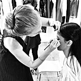 Bergdorf's tweeted this backstage look at the makeup prep for the CFDA Fashion Awards. Source: Instagram user bergdorfs