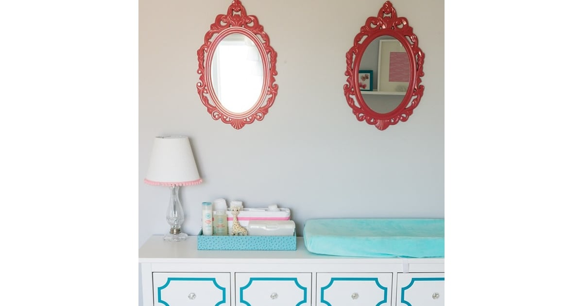 attractive and bright red nursery ideas | The finds: bright mirrors for a cute nursery. | HomeGoods ...
