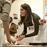 Kate Middleton does some cooking at Centrepoint.