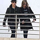 Jennifer Aniston and Justin Theroux held hands in January while leaving a movie date in LA.