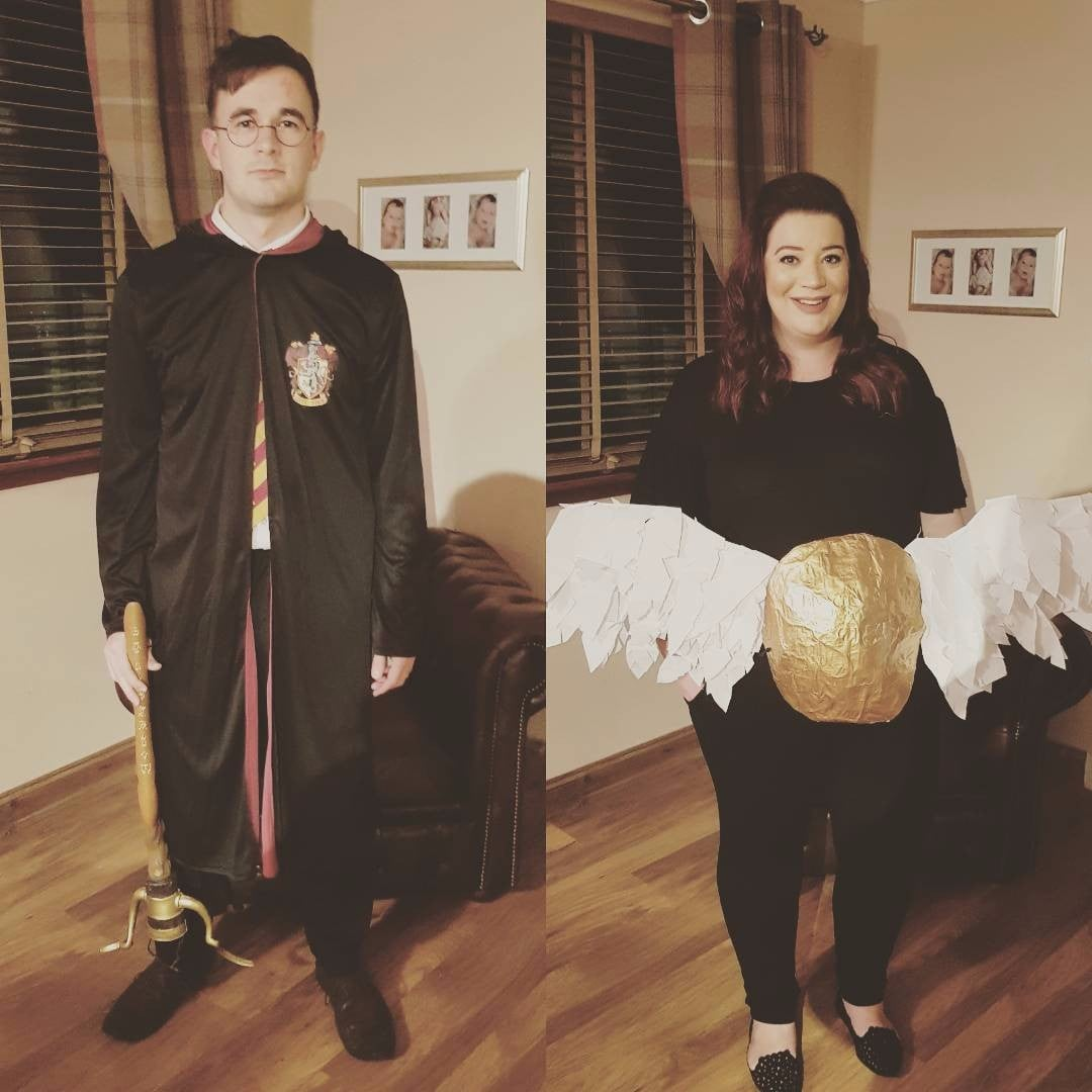 Pregnant Woman Golden Snitch Harry Potter Halloween Costume ...