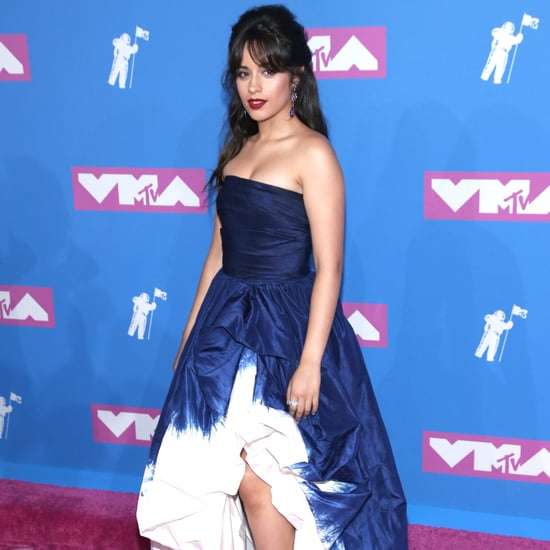 Camila Cabello's Blue Oscar de la Renta Dress at VMAs 2018