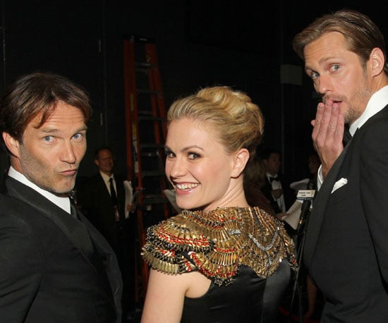 Slide Picture of Alexander Skarsgard, Anna Paquin, and Stephen Moyer at Emmy Awards
