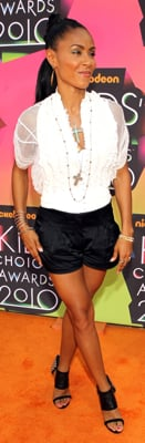 Jada Pinkett Smith Style at 2010 Kids Choice Awards