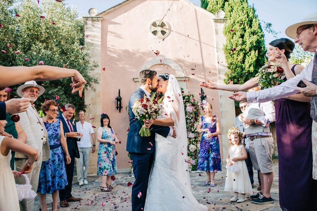 Lara and James tied the knot at Grecotel Agreco, a breathtaking farm on the Greek island of Crete with lush landscapes and gorgeous architecture. See the wedding here!