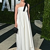Natalie Portman in White Dior Gown