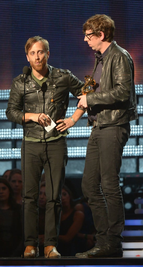 The Black Keys accepted their Grammy onstage.