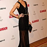 I'm beginning to think there's nothing Olivia Palermo can't pull off — gorgeous in sheer black for the Top Glamour Awards.