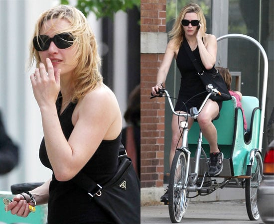 Photos of Kate Winslet Riding a Bike in New York