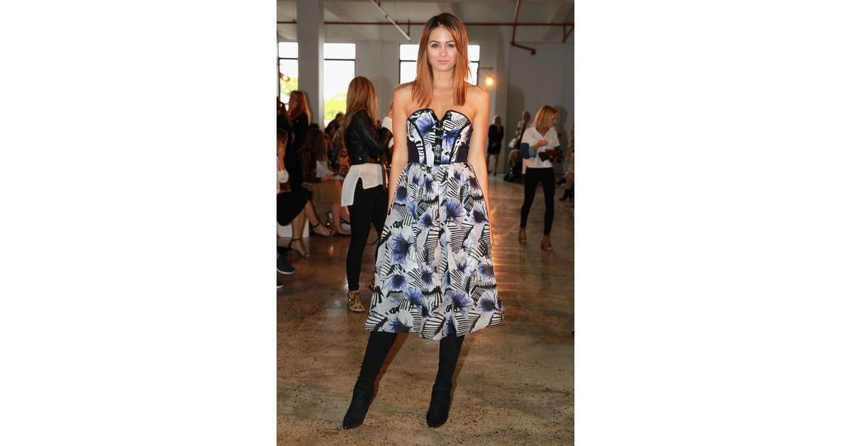 jesinta campbell at mbfwa day three celebrities take their front row seats at fashion week celebrities who support trump celebrities with diabetes