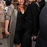 Bianca Jagger and Kate Moss