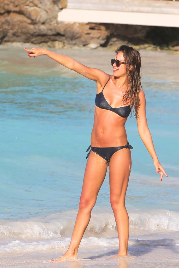Jessica Alba made the most of the beautiful weather in St. Barts last weekend.