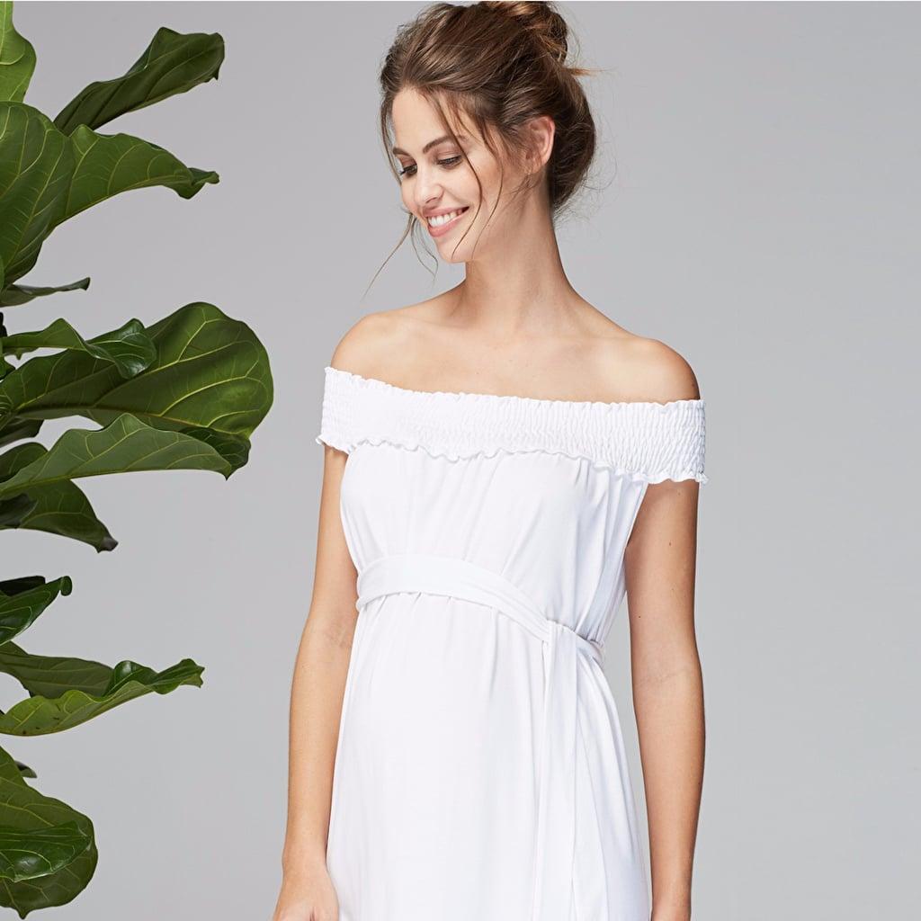 White Maternity Dresses | POPSUGAR Moms