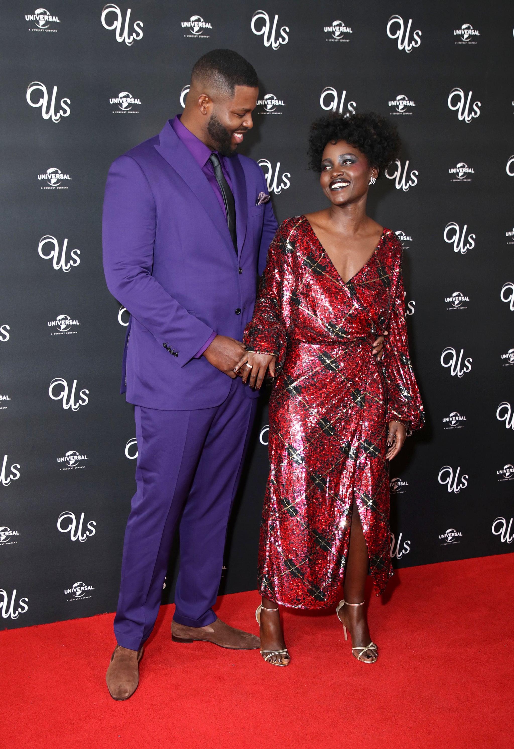 Lupita Nyong O Winston Duke At Us Screening In London 2019 Popsugar Celebrity
