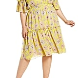 Chelsea28 Plus Size Floral Off the Shoulder Tiered Dress
