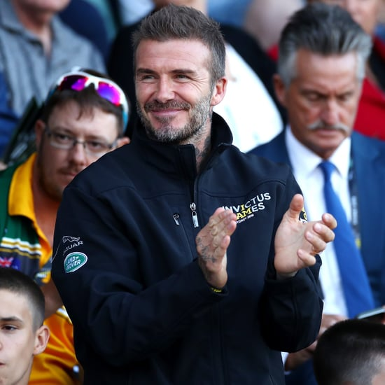 David Beckham With Romeo and Cruz at the 2018 Invictus Games