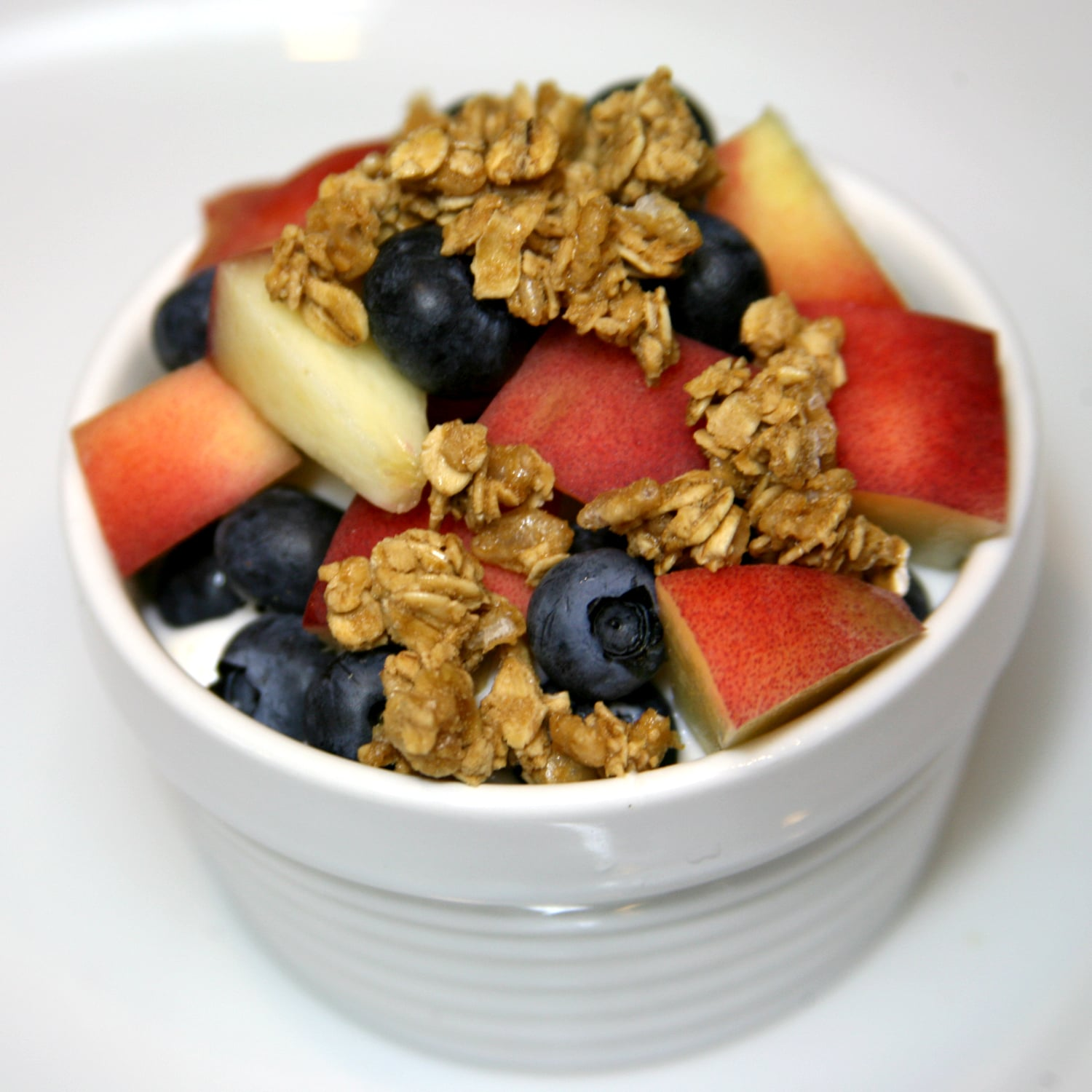 Blueberries and Peaches With Granola