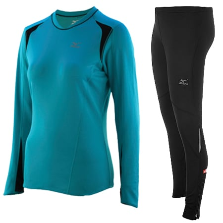 Mizuno Breath Thermo Women's Layered Tights and Crew Review