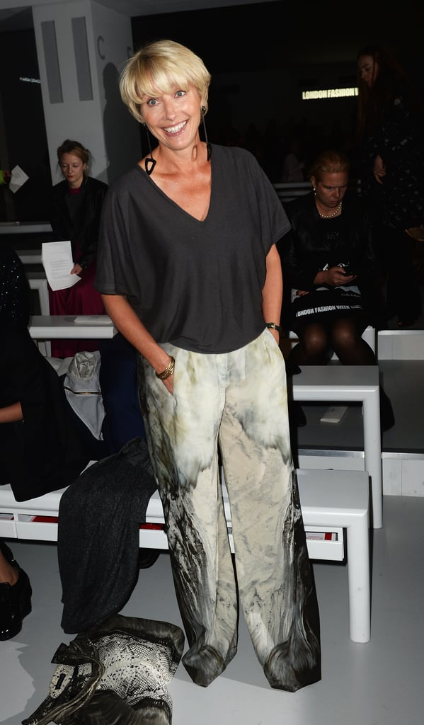 Emma Thompson sat front row at the Maria Grachvogel show.