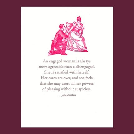 The Card Shop: A Jane Austen-Inspired Engagement