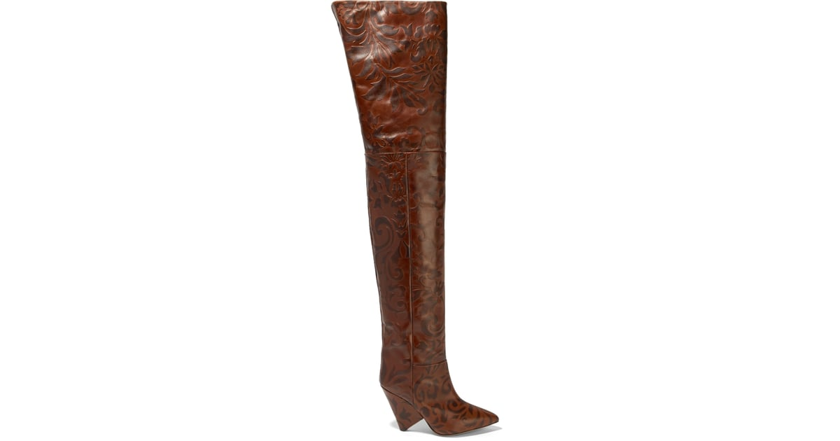 4291e170fef Isabel Marant Lostynn Embossed-Leather Boots