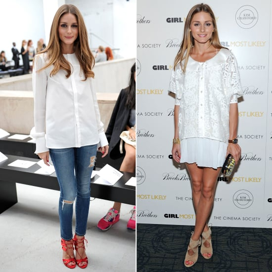 Olivia Palermo Wearing Aquazzura Shoes