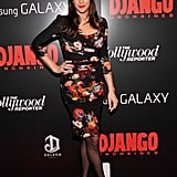 Liv Tyler opted for a moody floral-print sheath dress by Dolce & Gabbana.