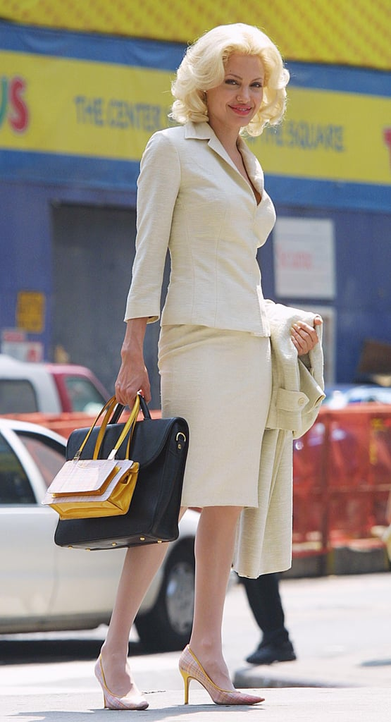 Angelina Jolie shot Life or Something Like It on location in Times Square, NY, in July 2001.