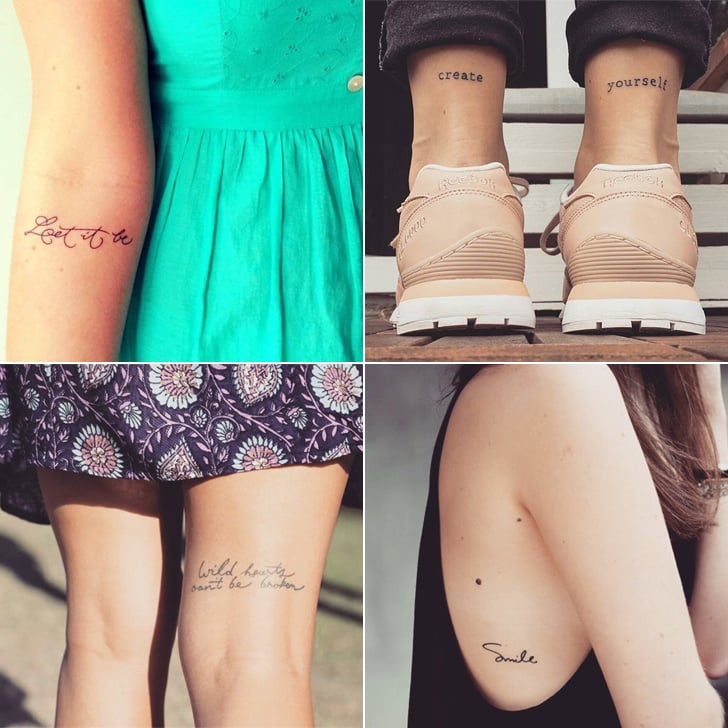 These 37 Small Quote Tattoos Will Help You Follow BIG Dreams