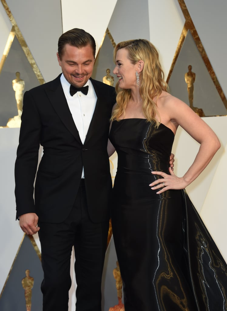 "Leonardo DiCaprio and Kate Winslet thrilled fans everywhere when they hit the red carpet together at the Oscars. The longtime friends and former costars are both among this year's Oscar nominees, and throughout award season, Kate has made it clear that she's rooting for him. When asked whether she'd be among the stars boycotting the Oscars over the lack of diverse nominees, she said she wouldn't, adding, ""I feel very strongly that it may possibly be Leo's year. And he is my closest friend in the world, and I just couldn't imagine not being there to support him."" Keep reading to see all of Leonardo DiCaprio and Kate Winslet's sweetest moments at the Oscars, then relive their friendship — in their own words."