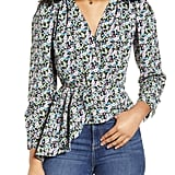 ONLY Ria Floral Print Peplum Top