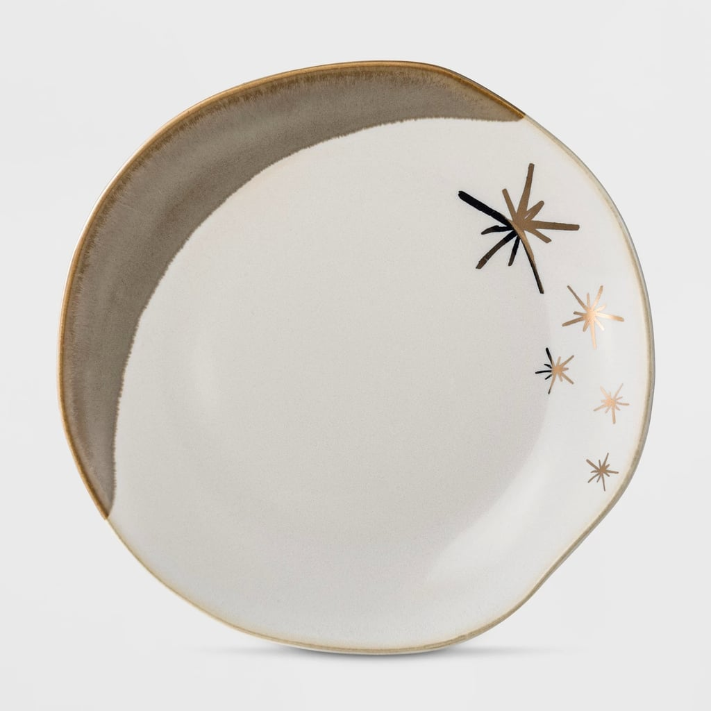 Cravings by Chrissy Teigen Stoneware Dessert Plate With Gold Stars