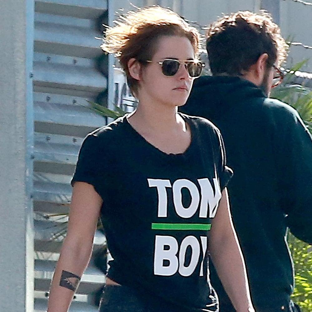 Kristen Stewart in LA in Tomboy T-Shirt